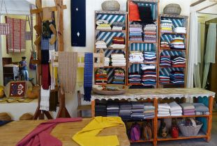 Shelves in shop -Museo Textile de Oaxaca